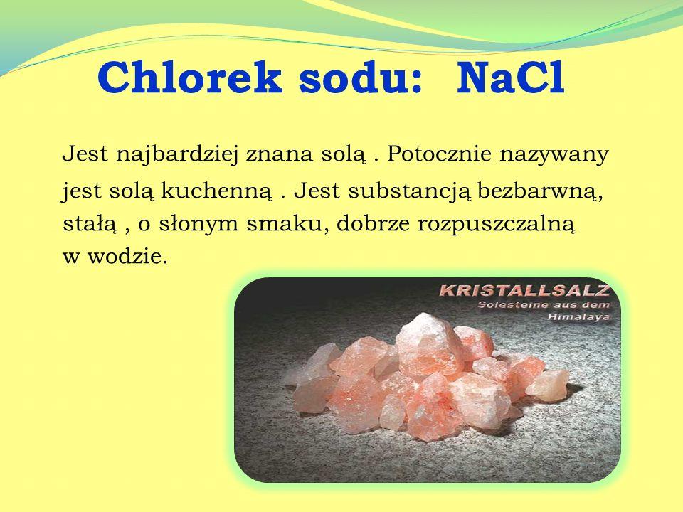 Występowanie soli :