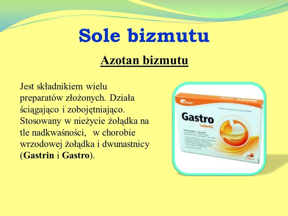 Sole manganu Stosowany jako składnik preparatów witaminowo mineralnych, niezbędny są do prawidłowego funkcjonowania mózgu. Przykładowy preparat Vita m