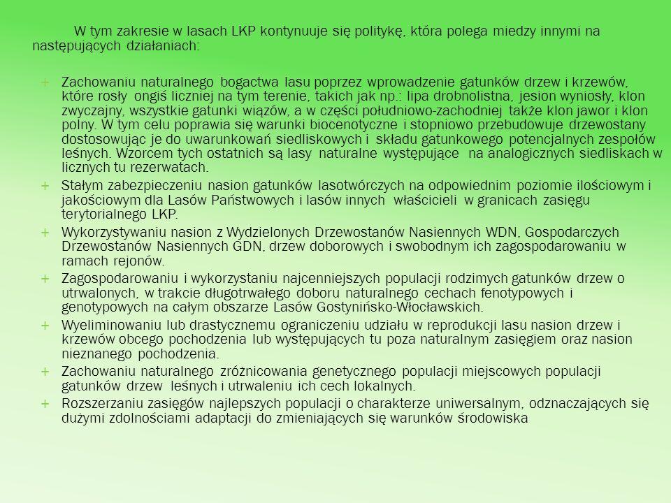 Istotną informacją o kondycji drzewostanów i możliwości gospodarowania nimi daje tzw.