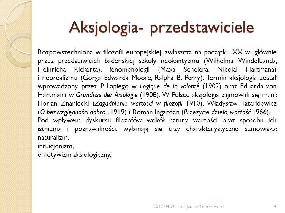 Aksjologia- przedstawiciele Rozpowszechniona w filozofii europejskiej, zwłaszcza na początku XX w., głównie przez przedstawicieli badeńskiej szkoły ne