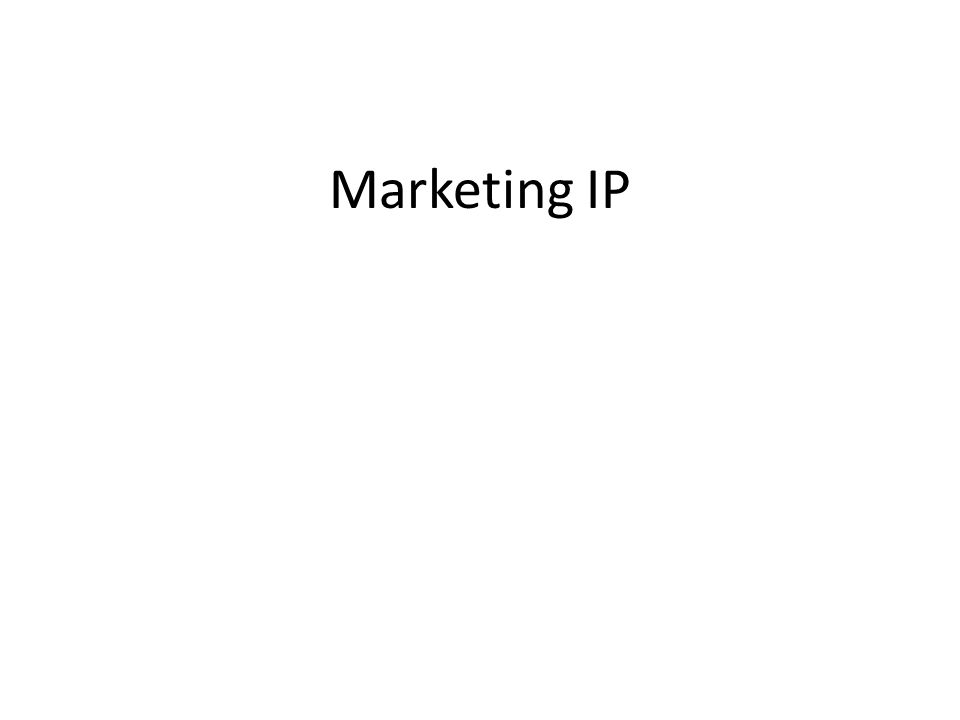 Marketing IP