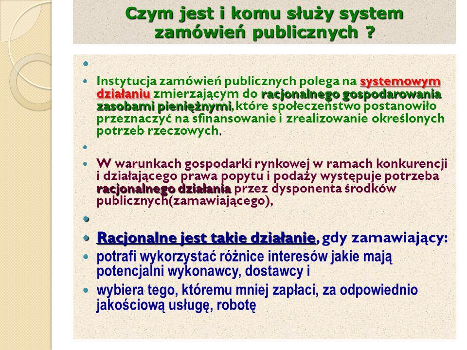 Czym jest i komu służy system zamówień publicznych .