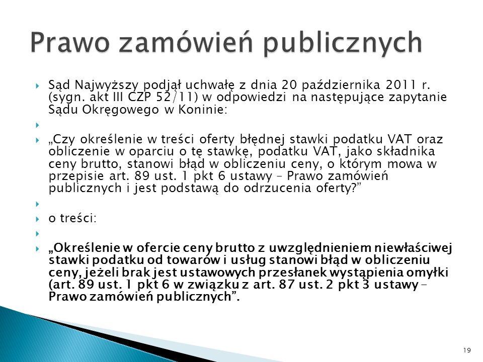 Cd.Stanowiska UZP Konkluzje: 1.