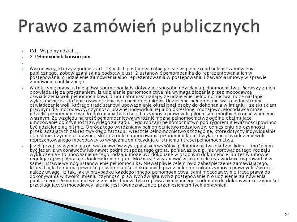 Wspólny udział wykonawców w postępowaniu o udzielenie zamówienia publicznego (na podstawie P.
