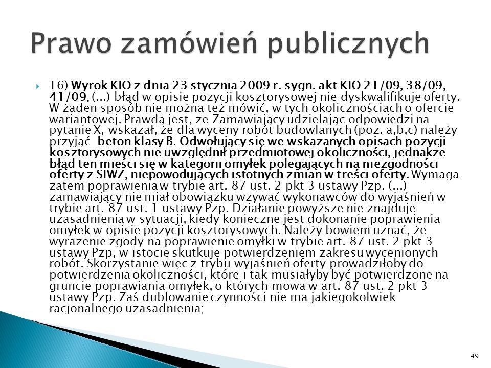 15) Wyrok KIO z dnia 3 marca 2009 r., sygn.