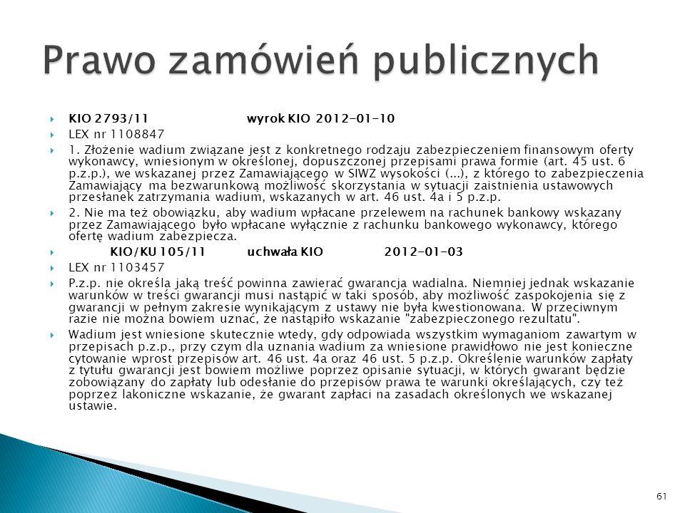 Wyrok Sądu Okręgowego w Krakowie z dnia 13 listopada 2009 r.