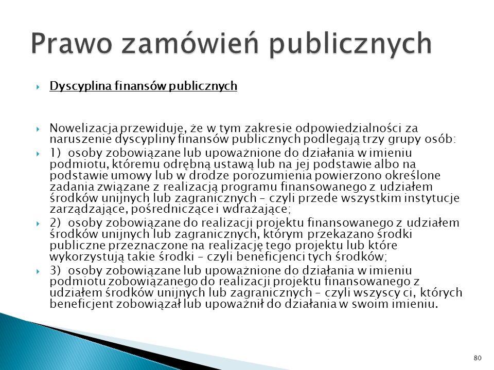 Dyscyplina finansów publicznych Dotychczas konsekwencje popełnionych uchybień dla przedsiębiorców wiązały się tylko z korektą finansową, czyli obowiązkiem zwrotu części pobranej dotacji.