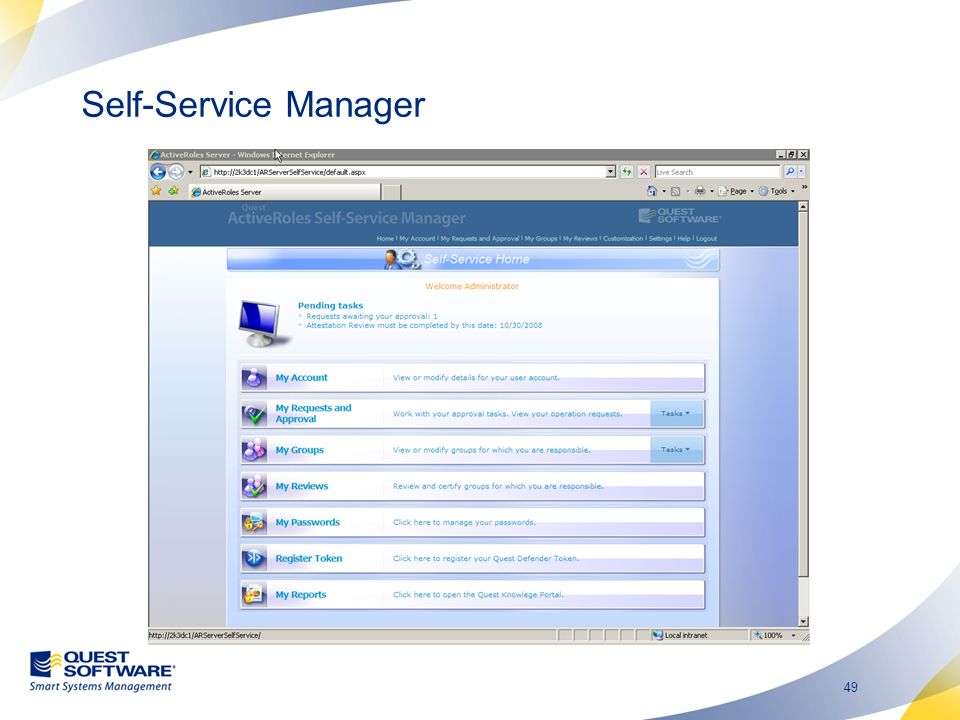 49 Self-Service Manager