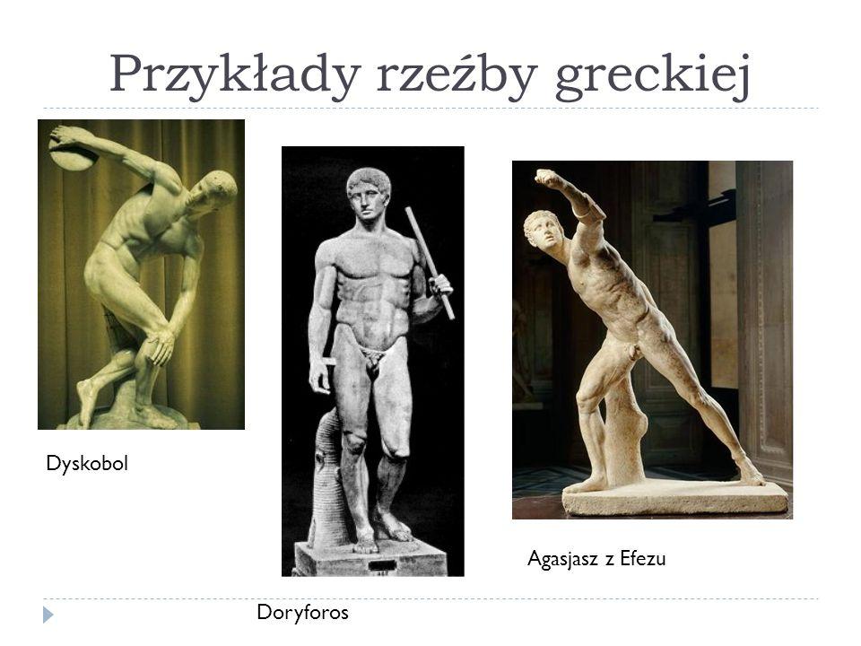 Przykłady rzeźby greckiej Dyskobol Doryforos Agasjasz z Efezu