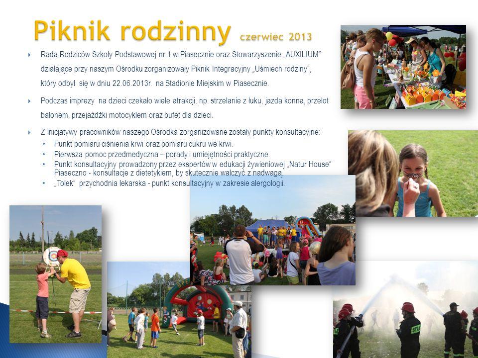 Rada Rodziców Szkoły Podstawowej nr 1 w Piasecznie oraz Stowarzyszenie AUXILIUM działające przy naszym Ośrodku zorganizowały Piknik Integracyjny Uśmie