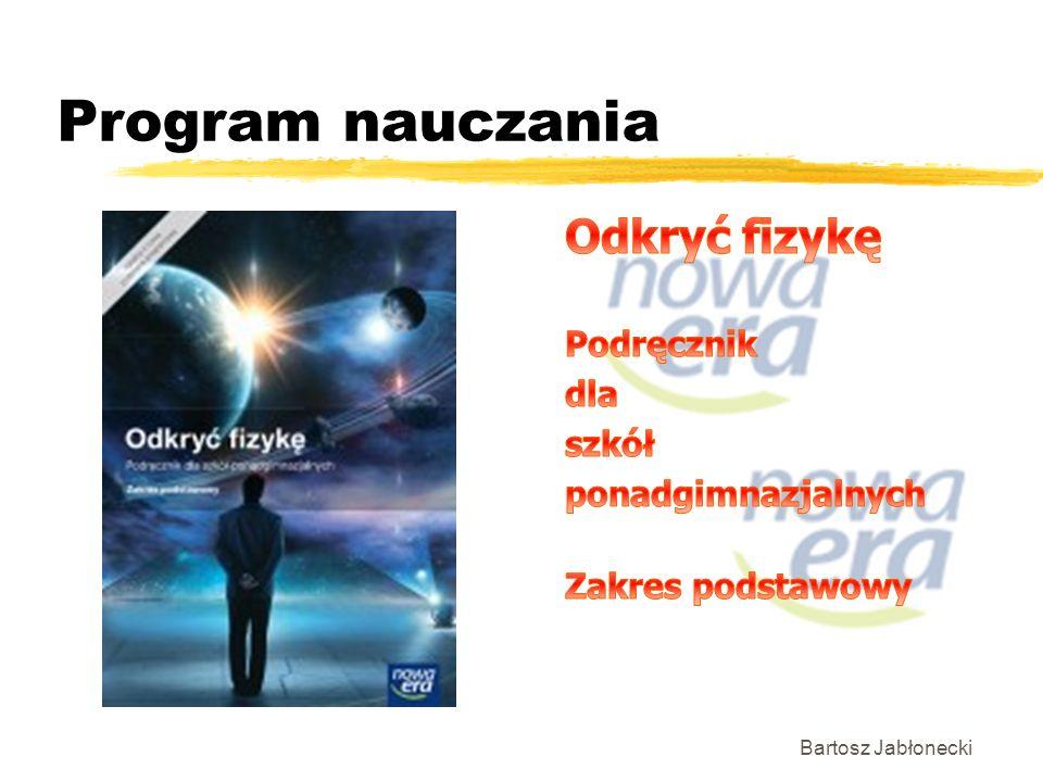 Program nauczania Bartosz Jabłonecki