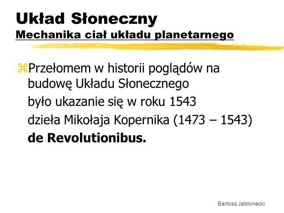 Układ Słoneczny Mechanika ciał układu planetarnego zPrzełomem w historii poglądów na budowę Układu Słonecznego było ukazanie się w roku 1543 dzieła Mi