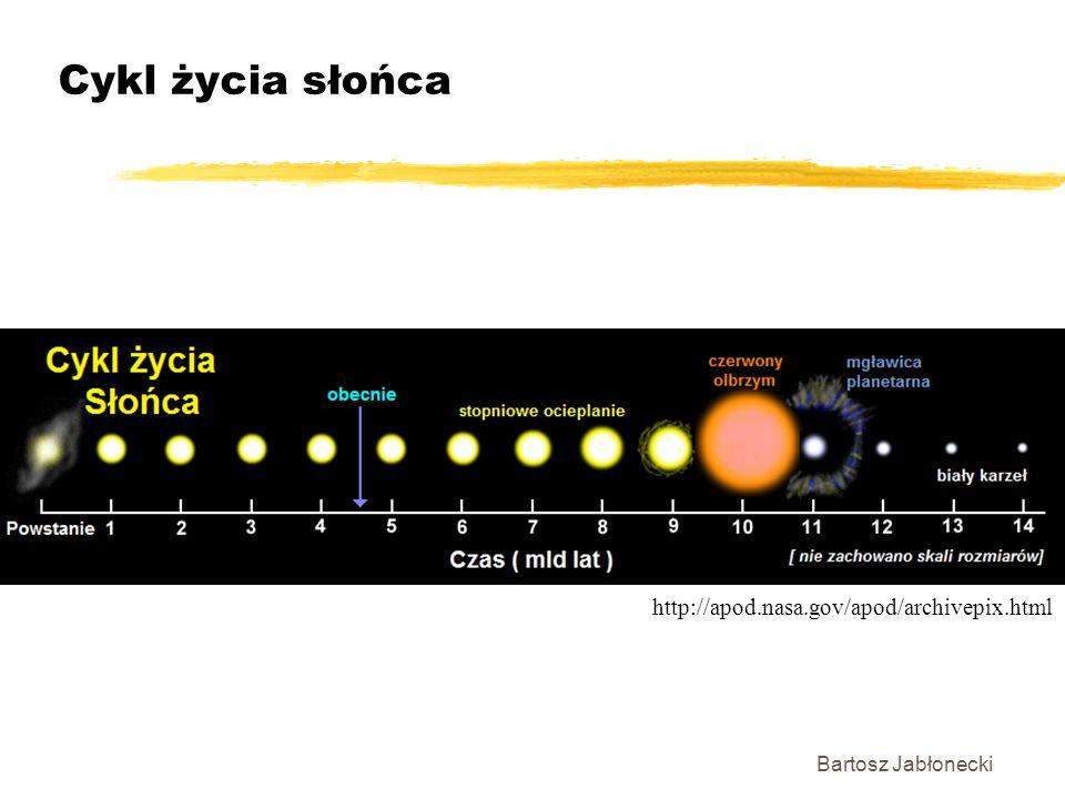 Bartosz Jabłonecki Cykl życia słońca http://apod.nasa.gov/apod/archivepix.html