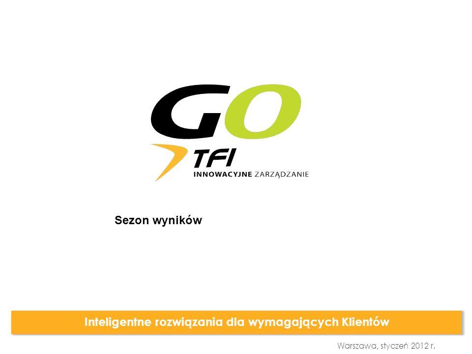 Warszawa, styczeń 2012 r. Inteligentne rozwiązania dla wymagających Klientów Sezon wyników
