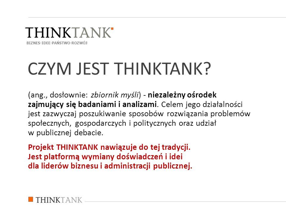 (ang., dosłownie: zbiornik myśli) - niezależny ośrodek zajmujący się badaniami i analizami. Celem jego działalności jest zazwyczaj poszukiwanie sposob