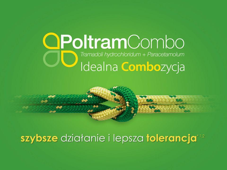 – informacja o leku Poltram Combo (Tramadoli hydrochloridum + Paracetamolum).