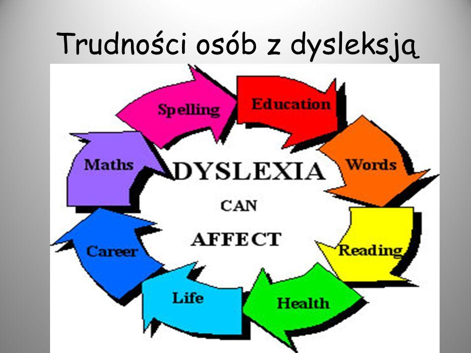 Trudności osób z dysleksją