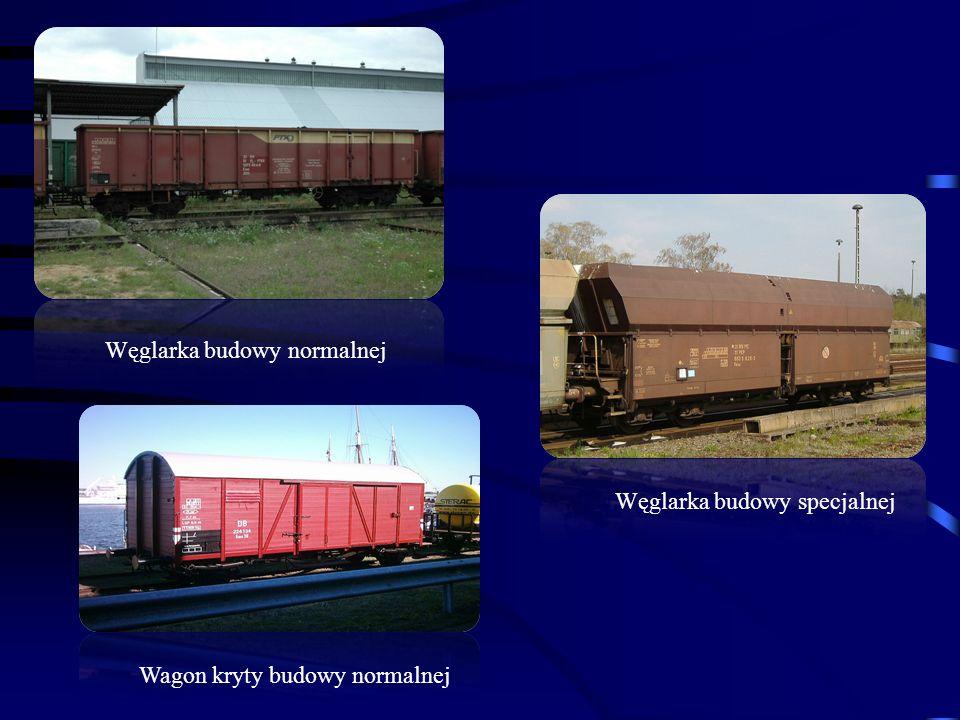 Węglarka budowy specjalnej Węglarka budowy normalnej Wagon kryty budowy normalnej