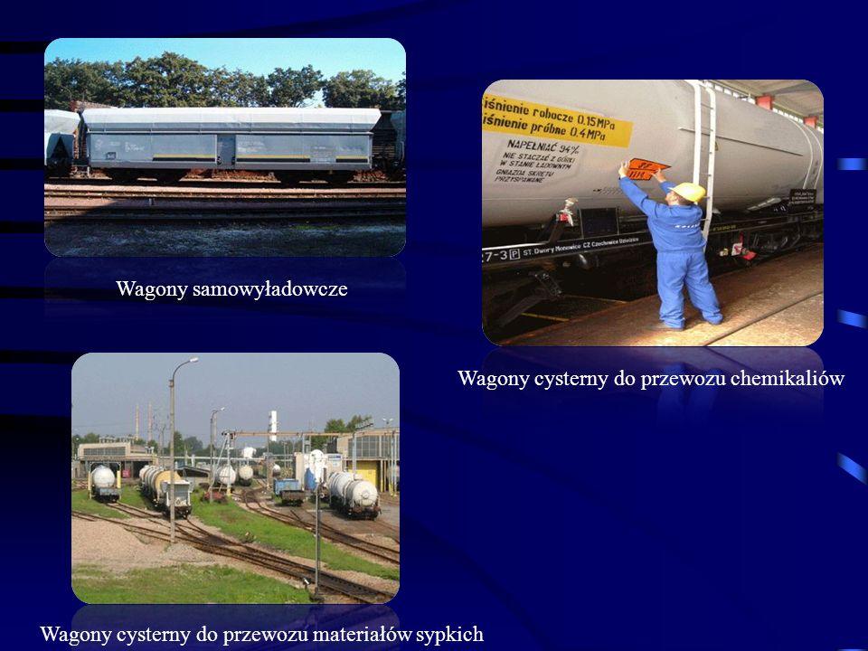 Wagony samowyładowcze Wagony cysterny do przewozu chemikaliów Wagony cysterny do przewozu materiałów sypkich