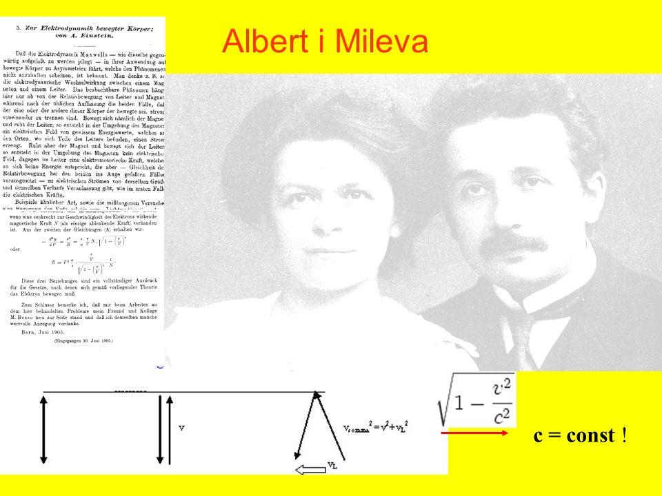 Albert i Mileva c = const !
