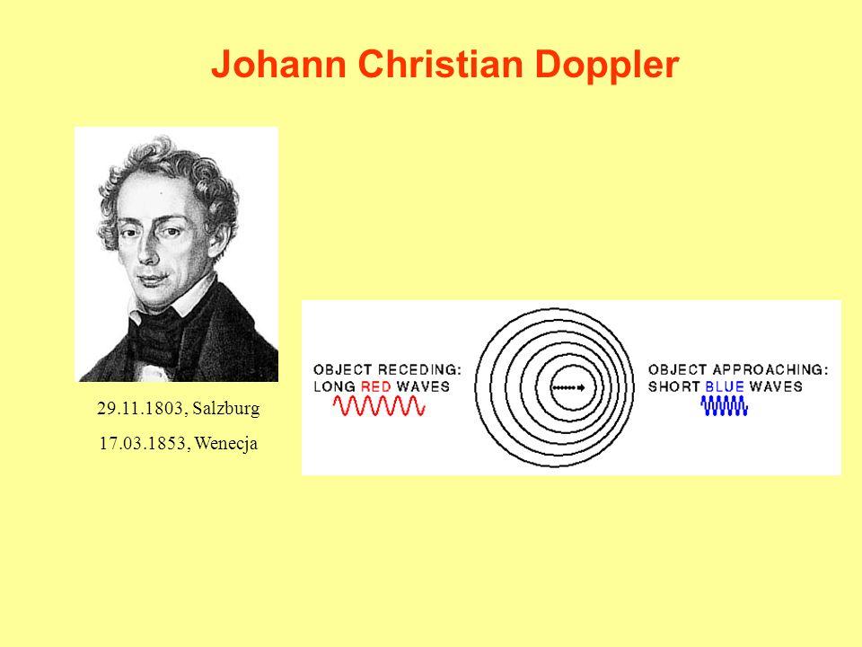 Johann Christian Doppler 29.11.1803, Salzburg 17.03.1853, Wenecja