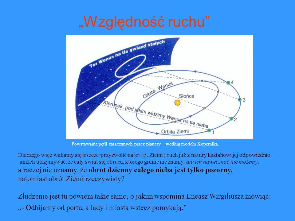 Powstawanie pętli zataczanych przez planety – według modelu Kopernika. Dlaczego więc wahamy się jeszcze przyzwolić na jej [tj. Ziemi} ruch już z natur