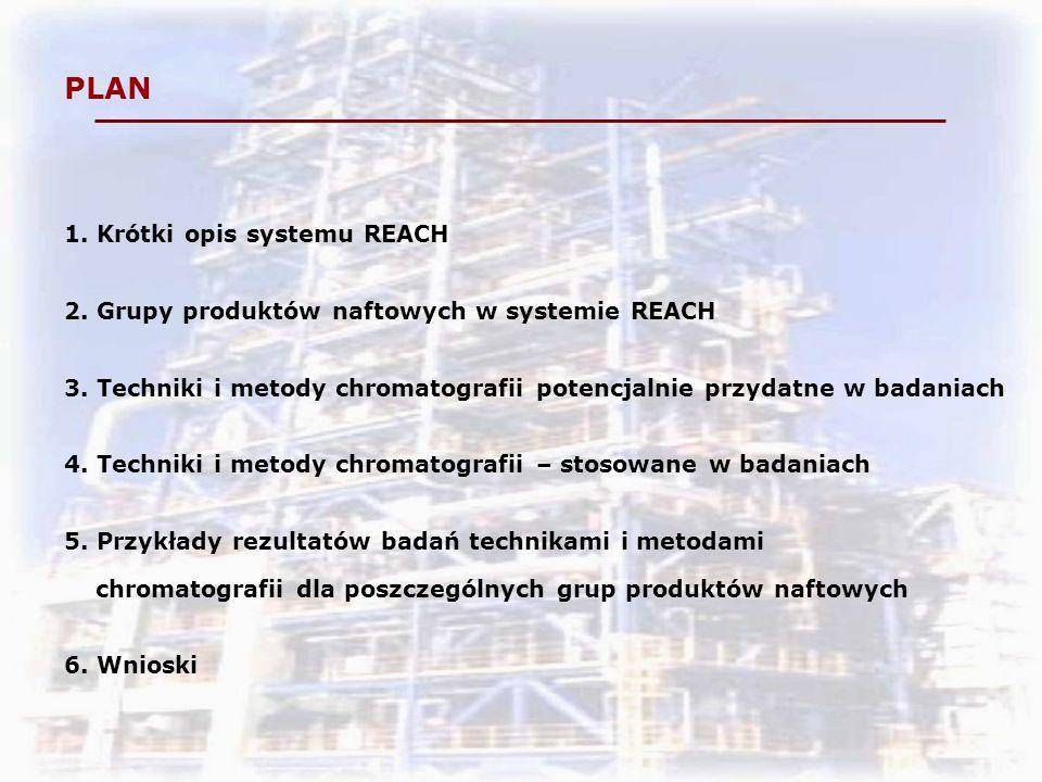 PLAN 1.Krótki opis systemu REACH 2. Grupy produktów naftowych w systemie REACH 3.