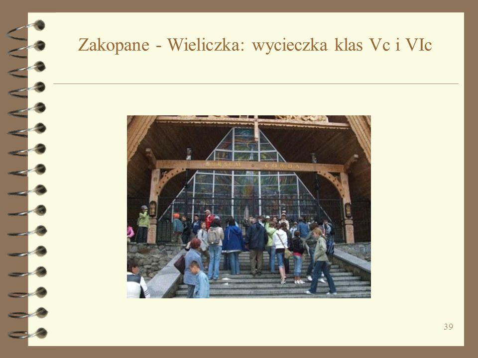 39 Zakopane - Wieliczka: wycieczka klas Vc i VIc