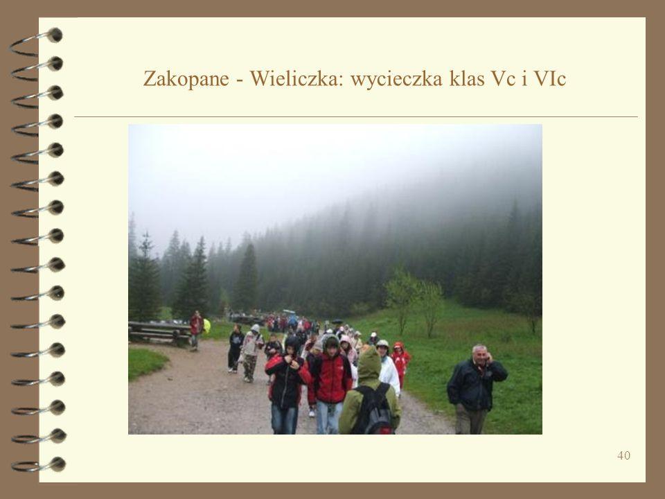 40 Zakopane - Wieliczka: wycieczka klas Vc i VIc