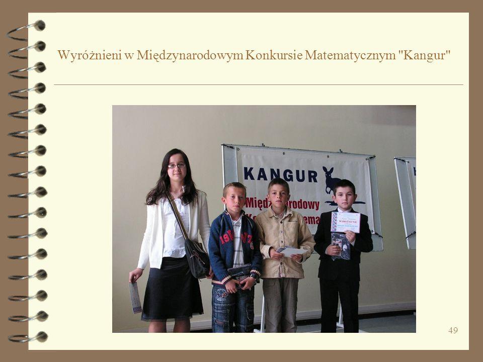 49 Wyróżnieni w Międzynarodowym Konkursie Matematycznym Kangur