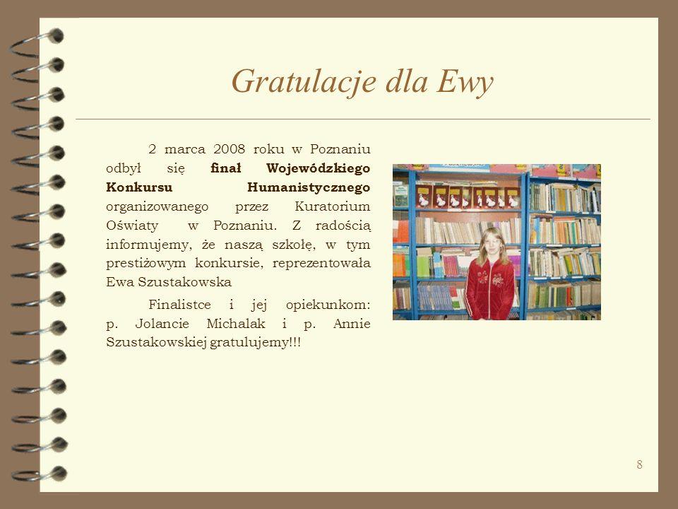29 Laureaci Konkursu Wiedzy o Wielkopolsce Konkurs Wiedzy o Wielkopolsce rozpoczął się w grudniu 2007r.