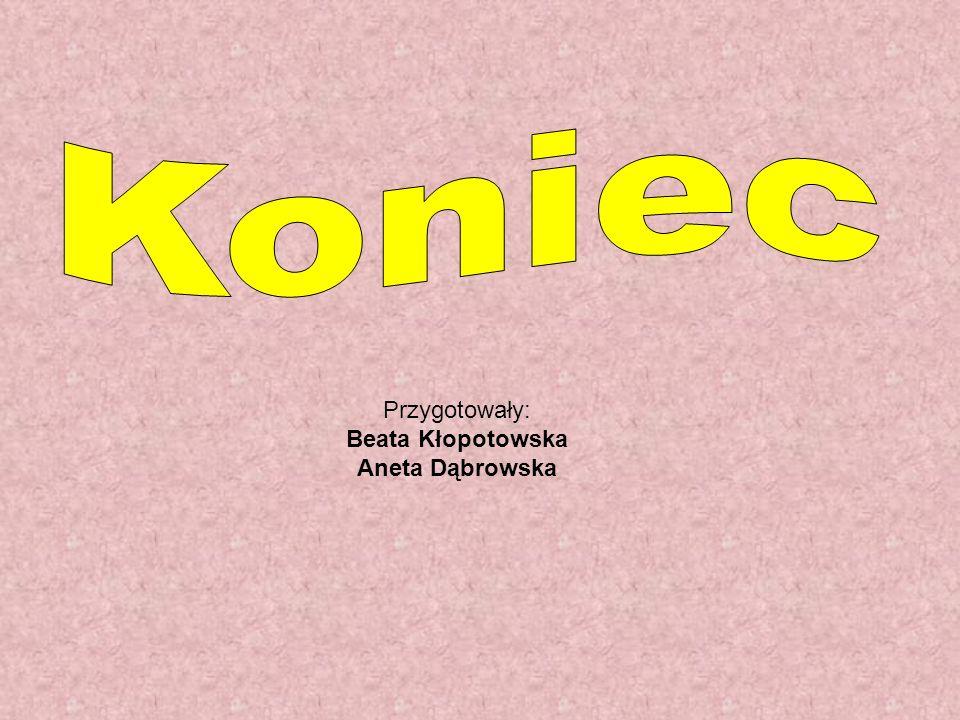 Przygotowały: Beata Kłopotowska Aneta Dąbrowska