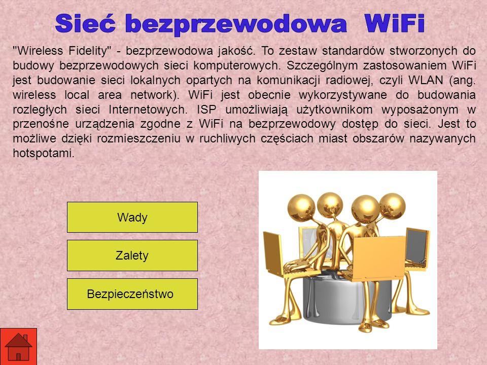 Wireless Fidelity - bezprzewodowa jakość.