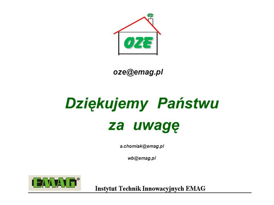 Dziękujemy Państwu za uwagę a.chomiak@emag.pl wb@emag.pl oze@emag.pl