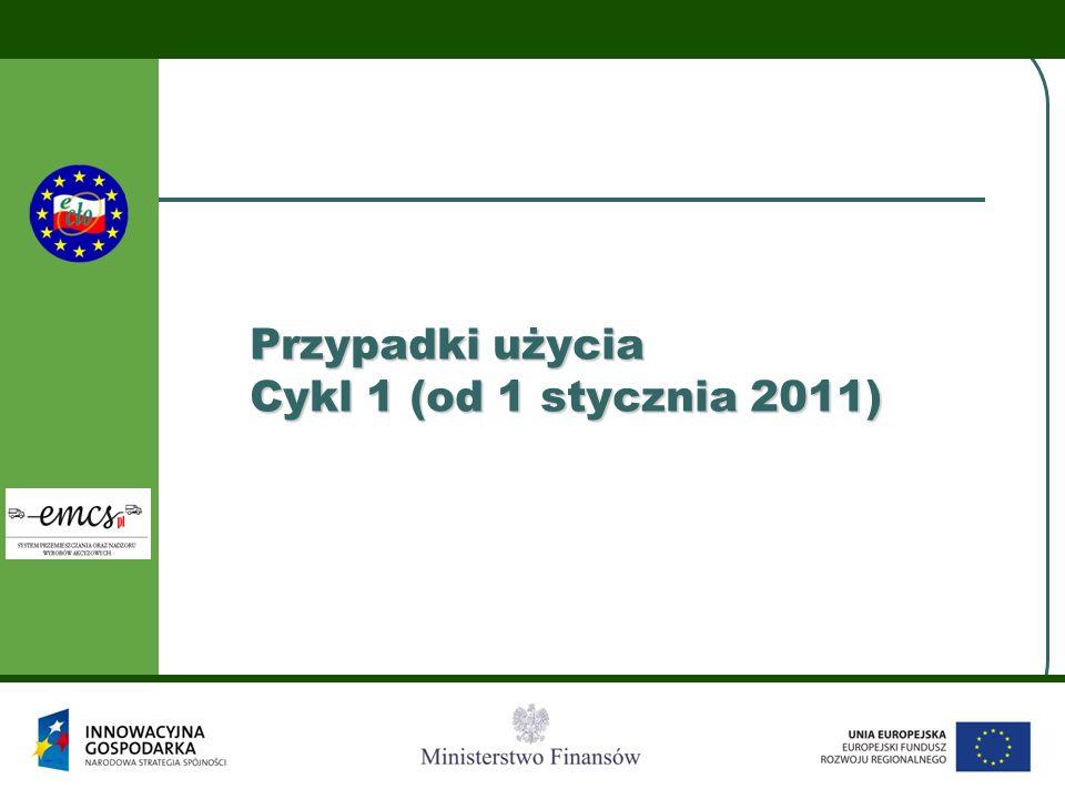 Przypadki użycia Cykl 1 (od 1 stycznia 2011)
