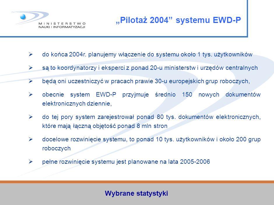 do końca 2004r.planujemy włączenie do systemu około 1 tys.