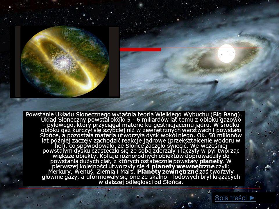 Powstanie Układu Słonecznego wyjaśnia teoria Wielkiego Wybuchu (Big Bang).