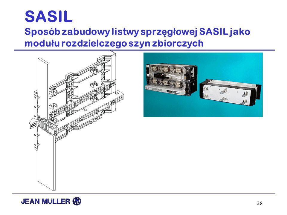 28 SASIL Sposób zabudowy listwy sprz ę g ł owej SASIL jako modu ł u rozdzielczego szyn zbiorczych