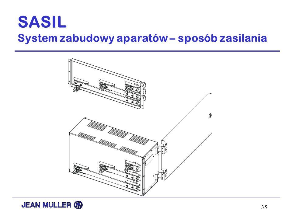35 SASIL System zabudowy aparatów – sposób zasilania