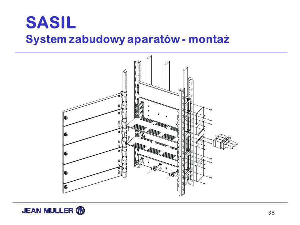 36 SASIL System zabudowy aparatów - monta ż