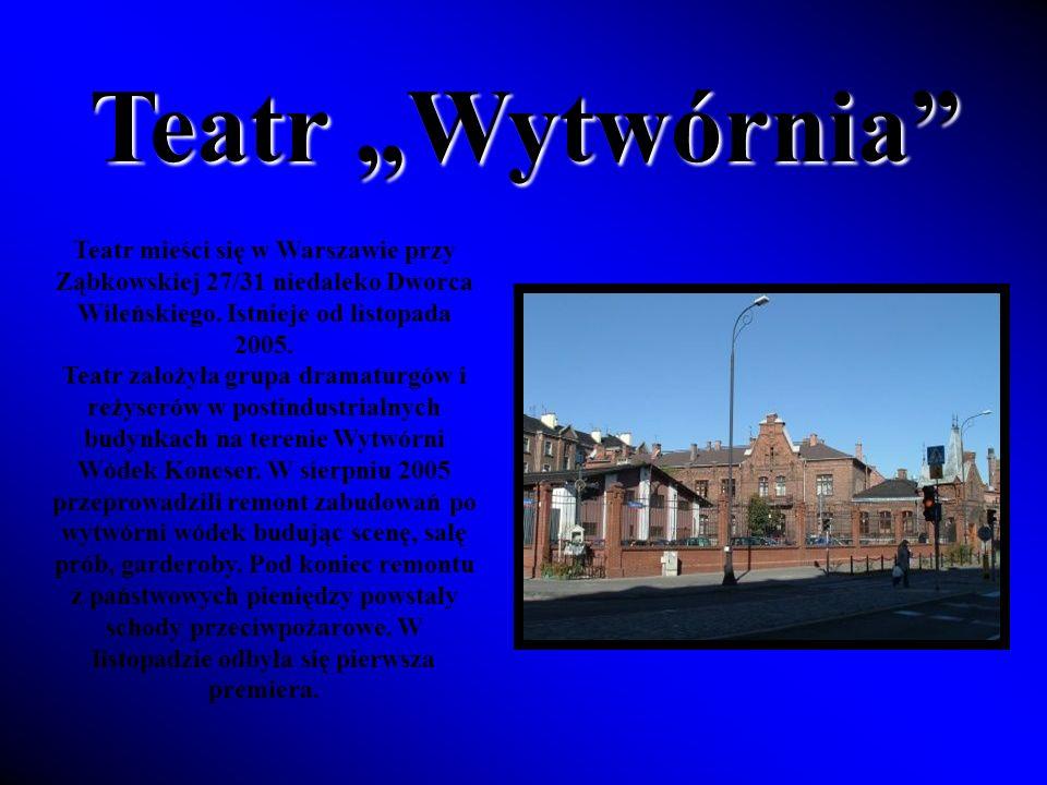 Teatr Wytwórnia Teatr mieści się w Warszawie przy Ząbkowskiej 27/31 niedaleko Dworca Wileńskiego.