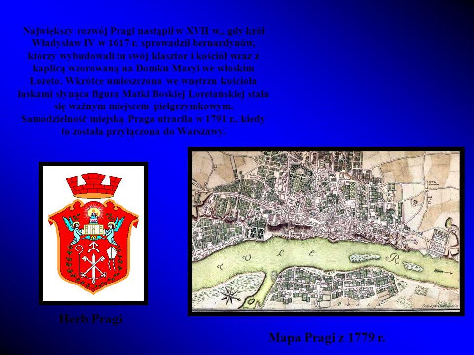 Największy rozwój Pragi nastąpił w XVII w., gdy król Władysław IV w 1617 r.