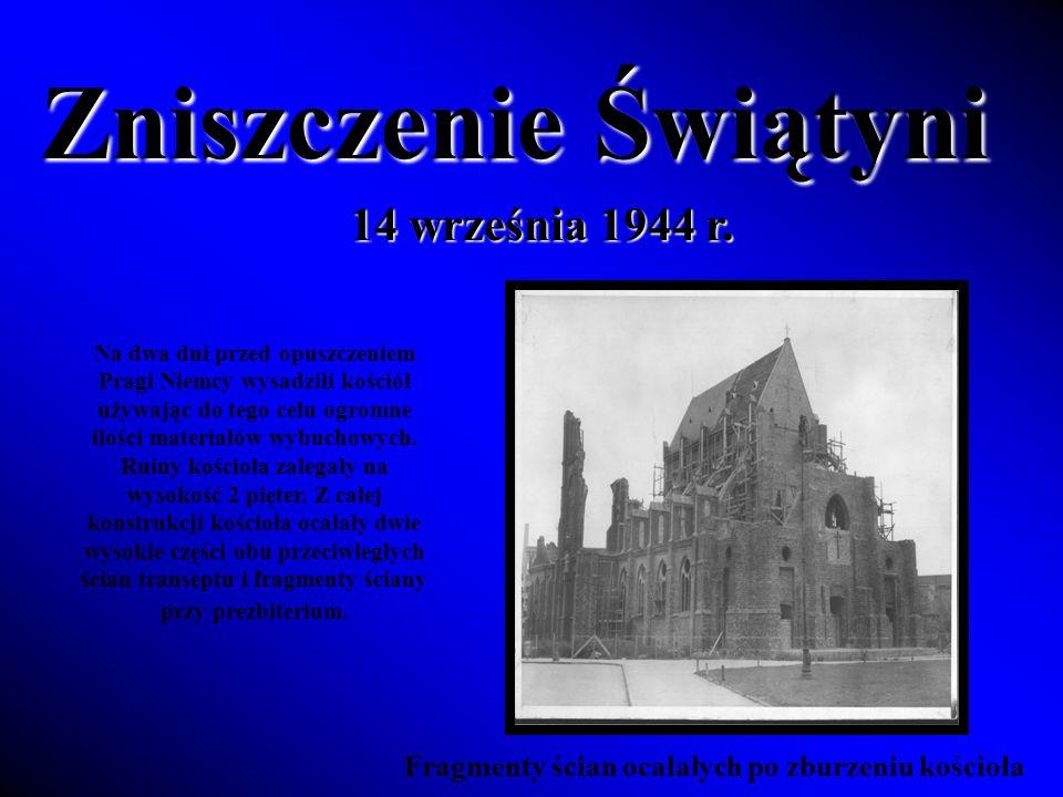 Zniszczenie Świątyni 14 września 1944 r.