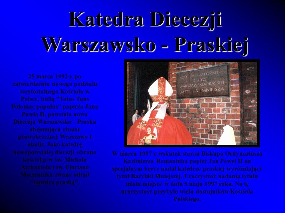 Aby zewnętrznie przygotować świątynię do tej uroczystości, umieszczono we wnękach nad drzwiami wejściowymi dwie mozaiki: nad drzwiami głównymi mozaikę Chrystusa Pantokratora, zaś nad wejściem umieszczono herb biskupi pierwszego ordynariusza diecezji Ks.