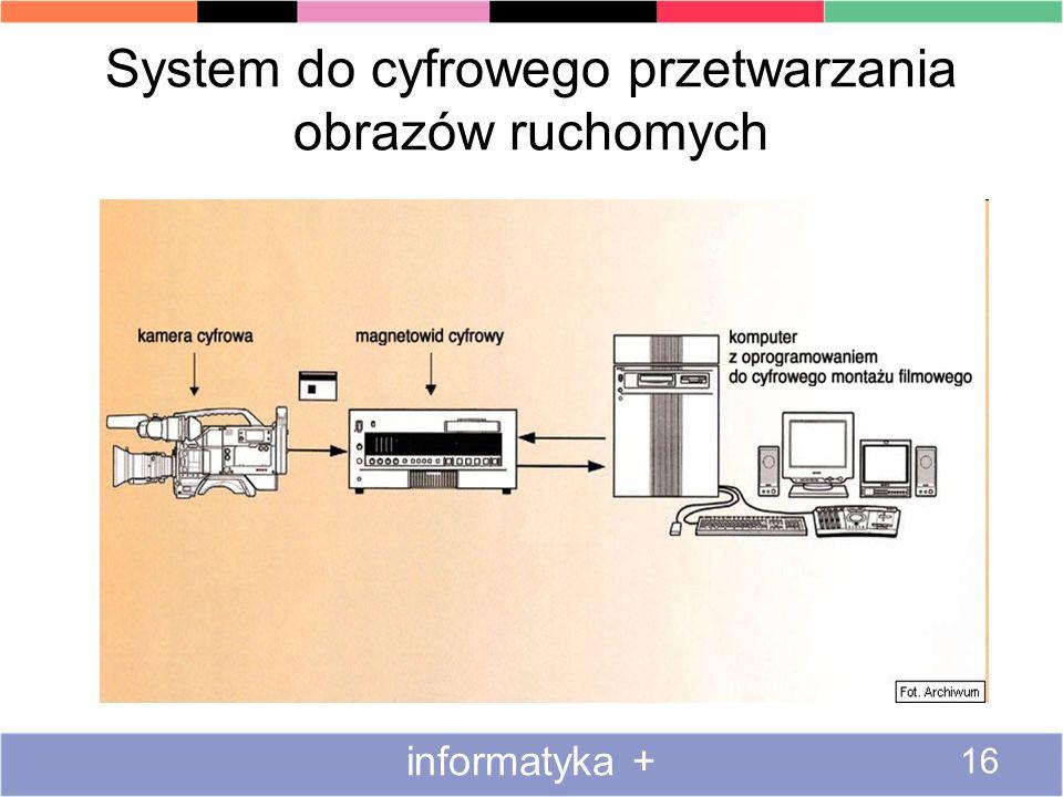System do cyfrowego przetwarzania obrazów ruchomych informatyka + 16