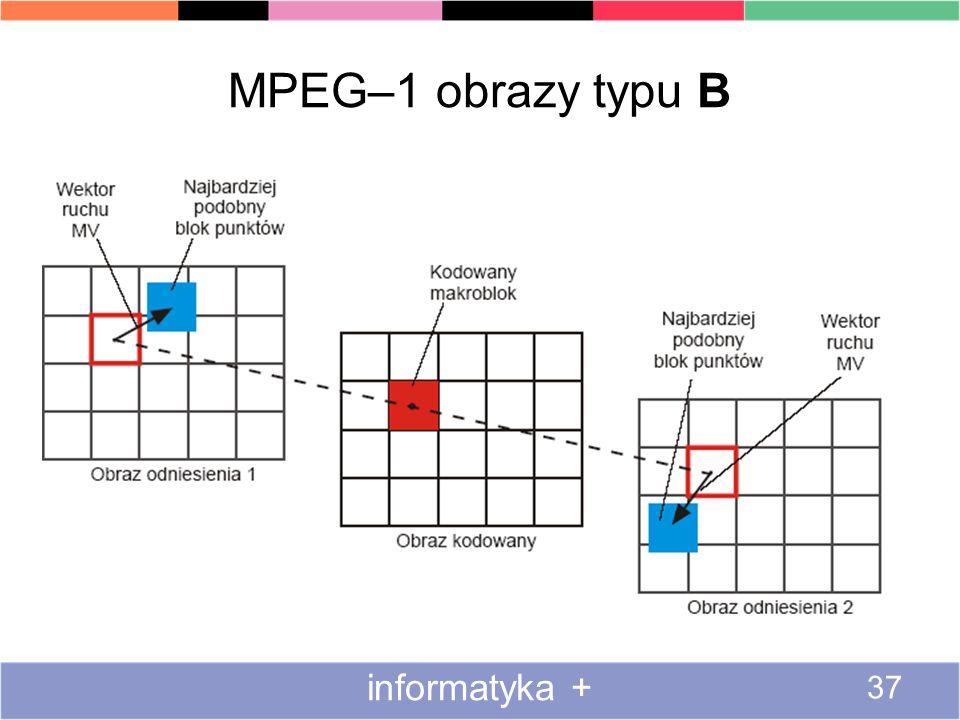 MPEG–1 obrazy typu B informatyka + 37