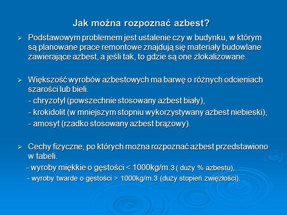 Jak można rozpoznać azbest.