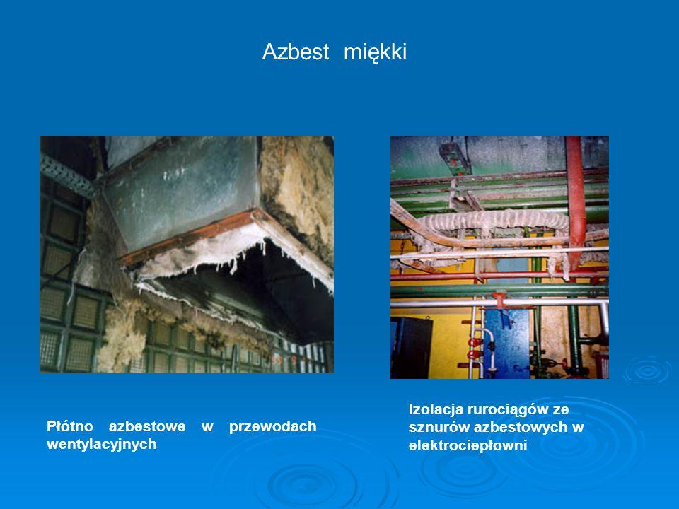 Izolacja rurociągów ze sznurów azbestowych w elektrociepłowni Azbest miękki Płótno azbestowe w przewodach wentylacyjnych