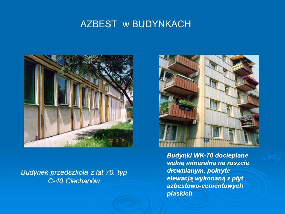 AZBEST w BUDYNKACH Budynek przedszkola z lat 70.