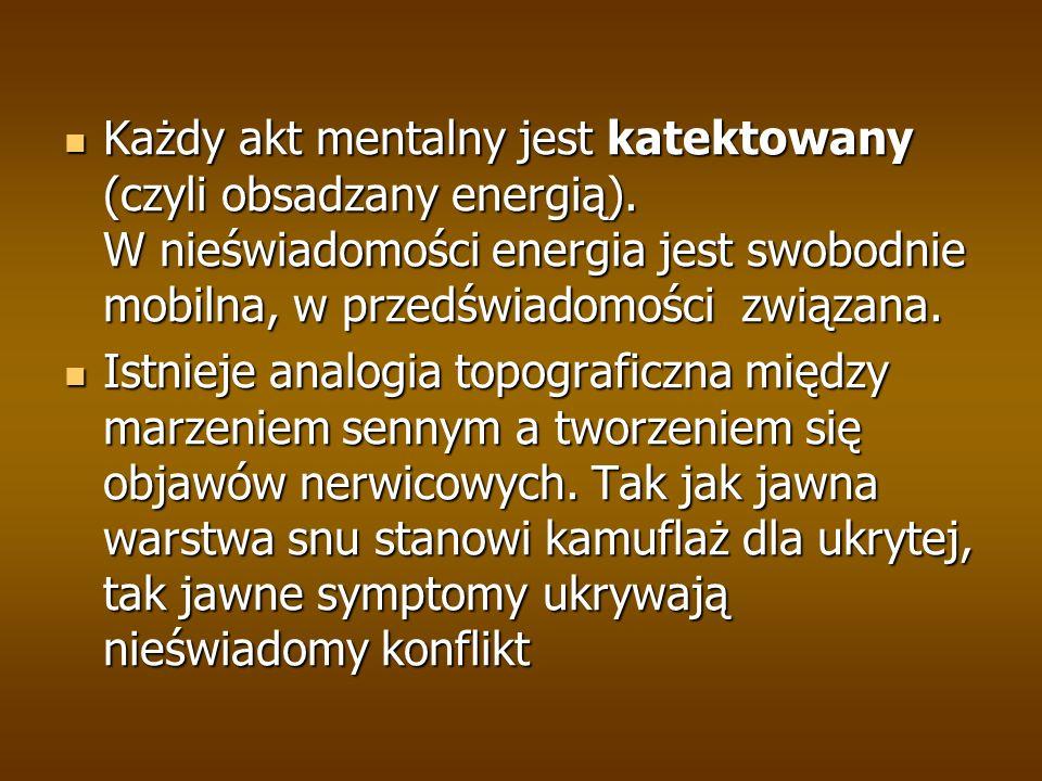 Każdy akt mentalny jest katektowany (czyli obsadzany energią).